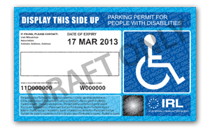 Parking Permit Disabled Drivers Association Of Ireland